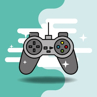 Videogame clássico jogo de vídeo controlador