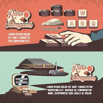 Videogame retrô conjunto de ícones do design ilustração vetorial