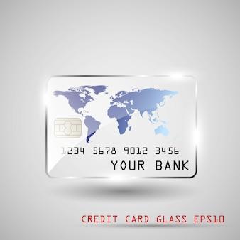 Vidro cartão de crédito