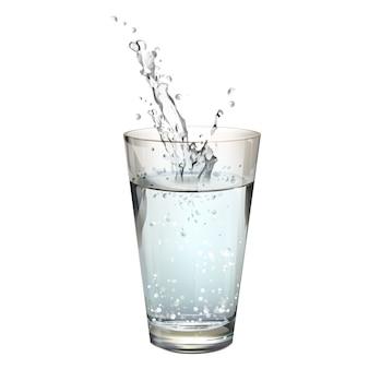 Vidro de água isolado