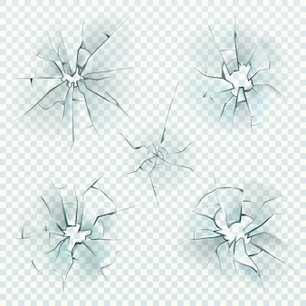 Vidro quebrado. espelhos deformados esmagados rachados realistas quebram gelo, janela de tela quebrada, buraco de vidro de bala. textura