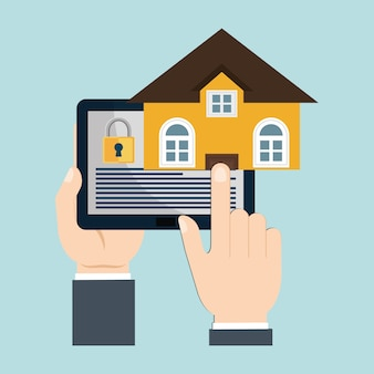 Vigilância de tecnologia de segurança em casa
