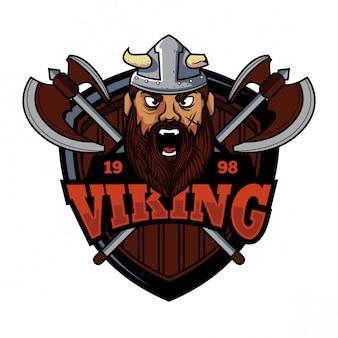 Viking e-sport design de logotipo de estilo