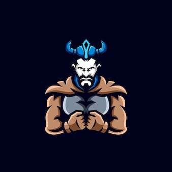 Viking esports design de logotipo
