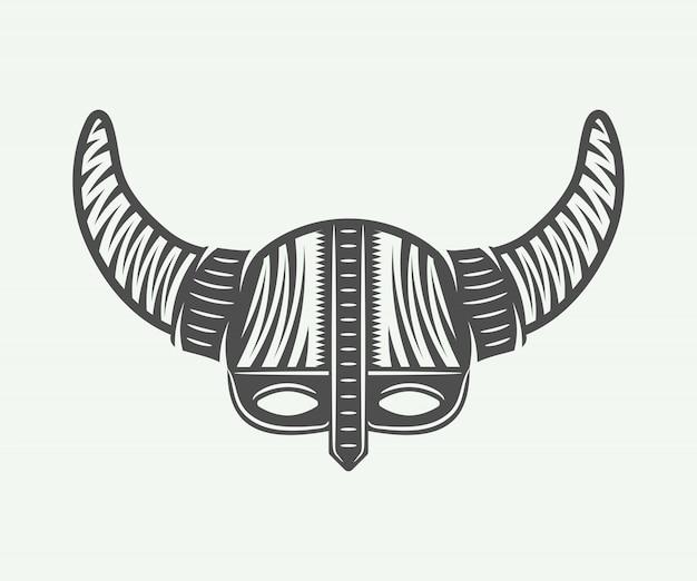 Viking leme em estilo retro
