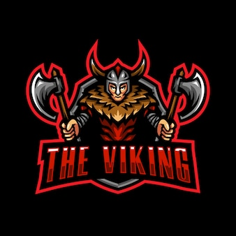 Viking mascote logotipo esport gaming