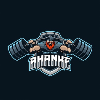 Viking strongman esport logo