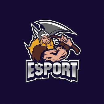 Viking thor logo e esporte