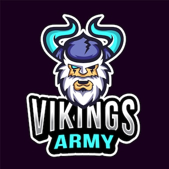 Vikings army esport logotipo