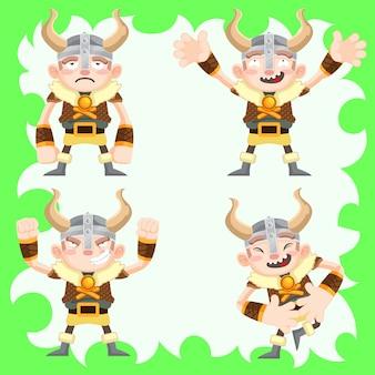 Vikings bonito conjunto de vetores
