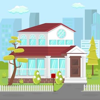 Villa, casa da área dos subúrbios