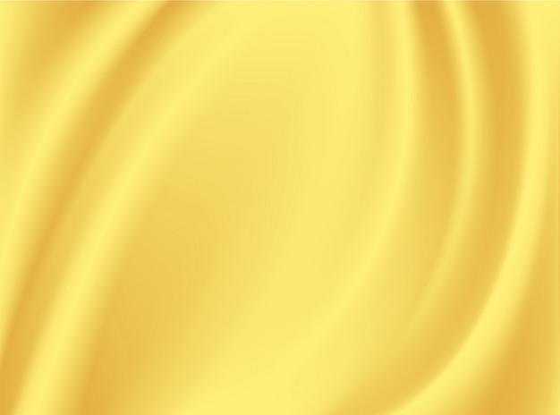Vinco acetinado de tecido de seda e ouro no conceito de design