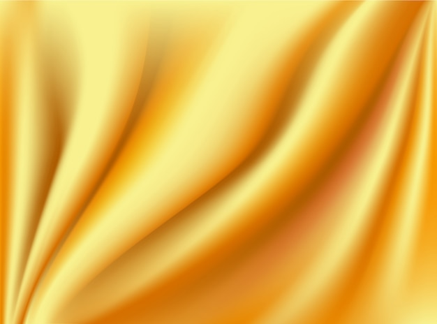 Vinco de tecido de cetim em ouro e seda em fundos de design de conceito