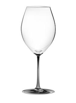 Vinho de vidro realista em uma imagem vetorial de fundo branco