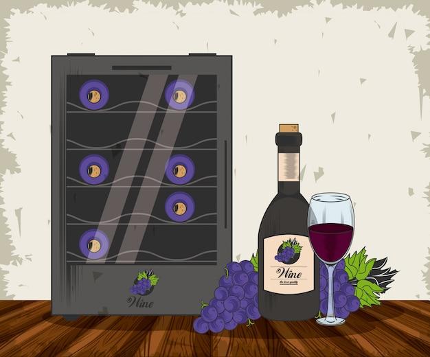 Vinho grunge design