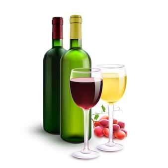 Vinhos tintos e brancos