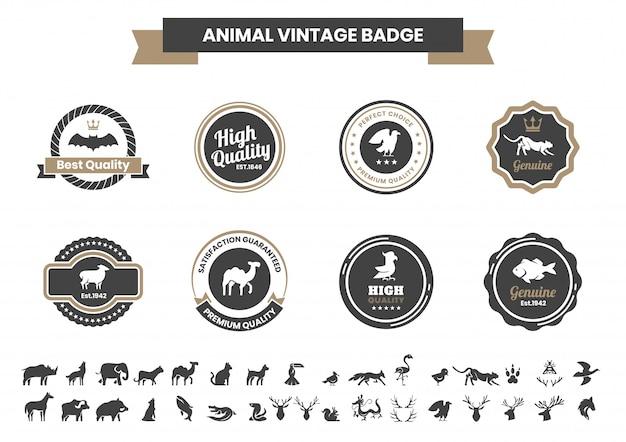 Vintage animal para banner
