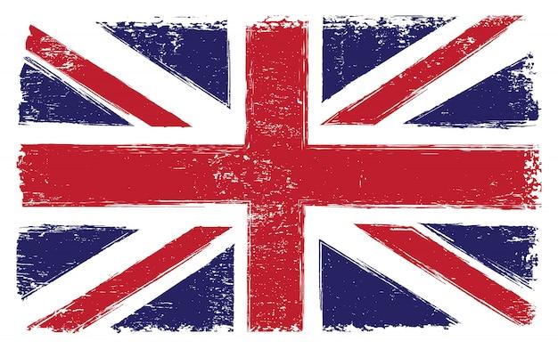 Vintage bandeira do reino unido