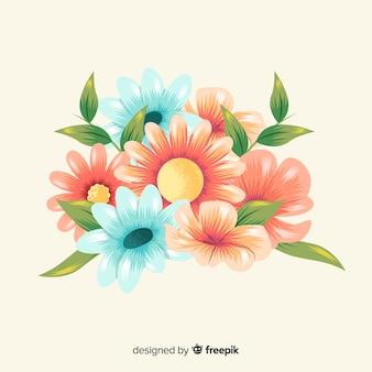Vintage bouquet floral desenhado