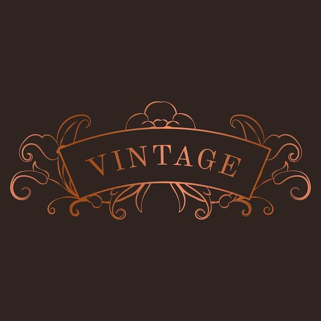Vintage bronze art nouveau distintivo vector