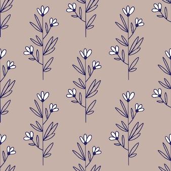 Vintage camomila padrão. padrão sem emenda de flores