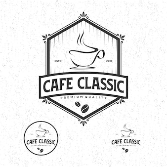 Vintage clássico do logotipo do café
