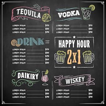 Vintage colorido do menu do quadro