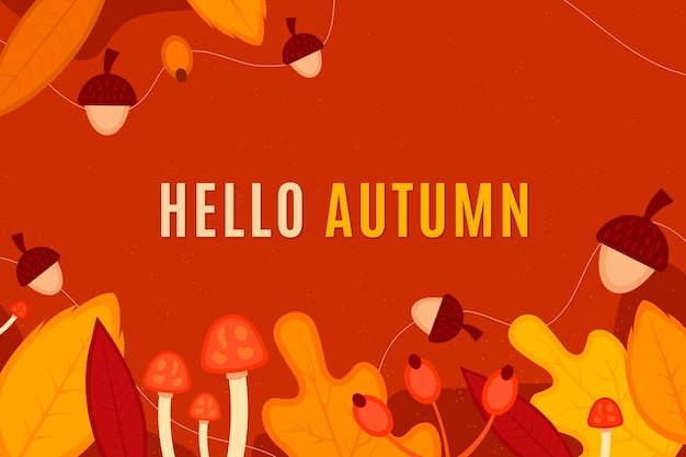 Vintage colorido fundo de outono