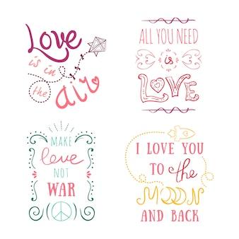 Vintage com letras de mão st. cartão de dia dos namorados - com caligrafia artesanal