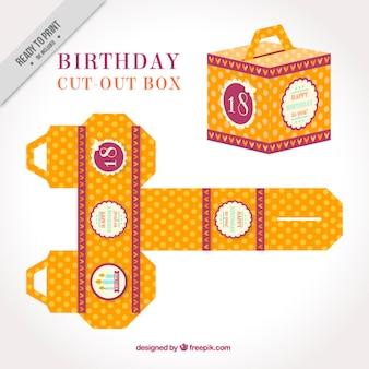 Vintage cortar a caixa para o aniversário