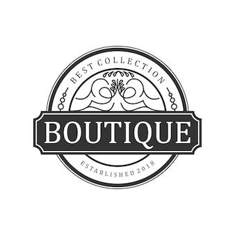 Vintage de logotipo boutique