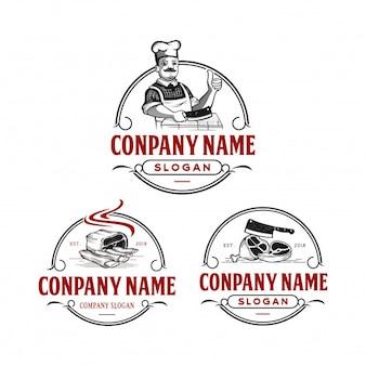 Vintage de logotipo de açougueiro