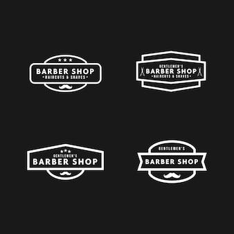 Vintage de logotipo de barbearia