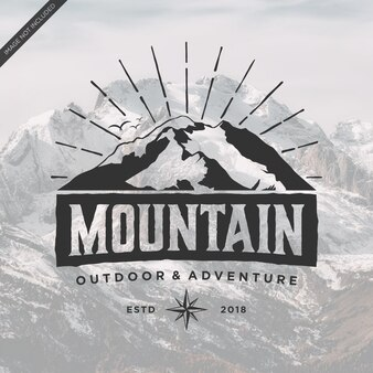 Vintage de logotipo de montanha