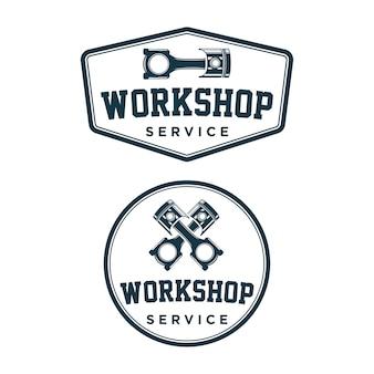 Vintage de logotipo de oficina