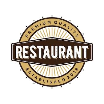 Vintage de logotipo do restaurante
