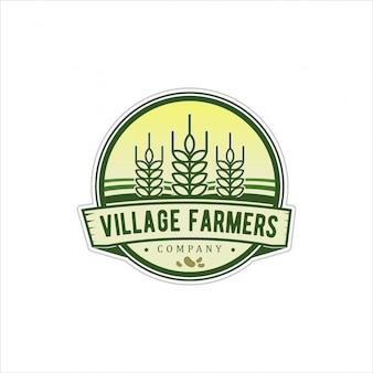 Vintage de logotipo para os agricultores da aldeia