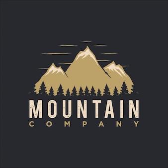 Vintage do logotipo da montanha