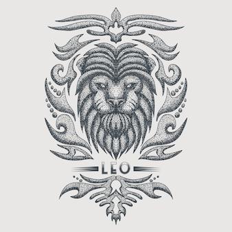 Vintage do zodíaco de leo
