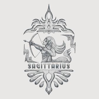 Vintage do zodíaco sagittarius