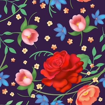 Vintage floral padrão sem emenda