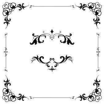 Vintage florescer ornamento quadro vector