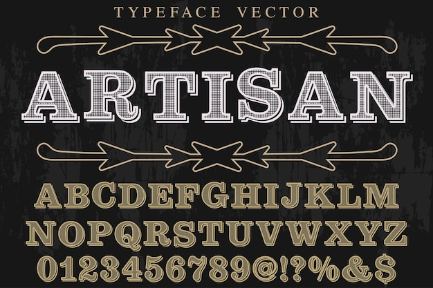 Vintage font artesanal artesanal