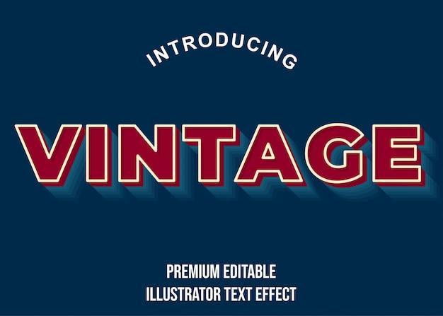 Vintage - fonte de efeito de texto 3d marrom vermelho estilo