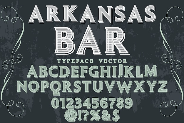 Vintage fonte handcrafte arkansas bar