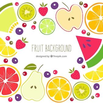 Vintage, fruta, verão, fundo