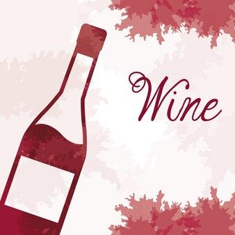 Vintage garrafa de vinho