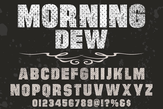 Vintage lettering design manhã dey