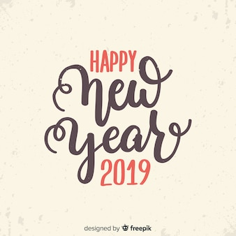 Vintage lettering novo ano de 2019