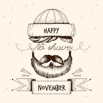 Vintage movember no shave month